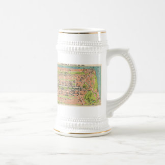 Mapa del vintage de Edimburgo Escocia (1935) Tazas De Café