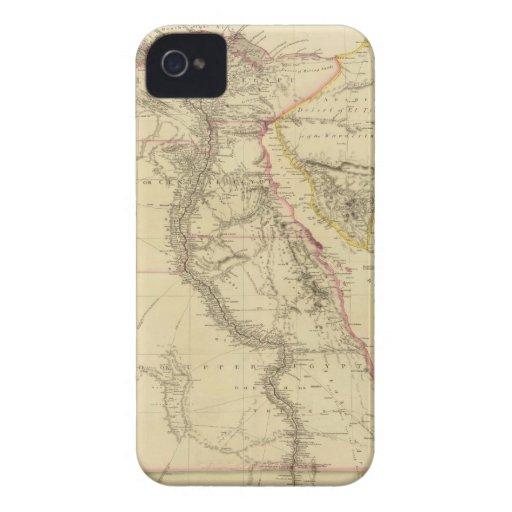 Mapa del vintage de Egipto (1832) Case-Mate iPhone 4 Protectores