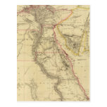 Mapa del vintage de Egipto (1832) Postales