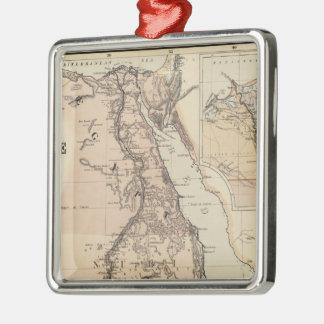 Mapa del vintage de Egipto y del Nilo (1885) Ornamento Para Reyes Magos