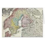Mapa del vintage de Escandinavia (1730) Tarjetas