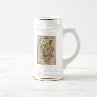 Mapa del vintage de Escocia 1814 Tazas De Café
