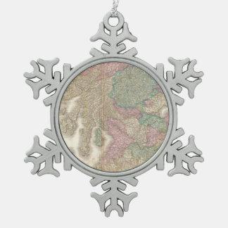 Mapa del vintage de Escocia meridional (1818) Adorno