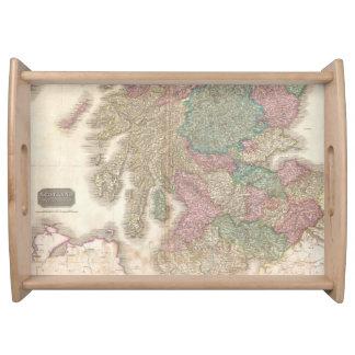 Mapa del vintage de Escocia meridional (1818) Bandeja