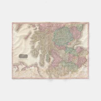 Mapa del vintage de Escocia meridional (1818) Manta De Forro Polar