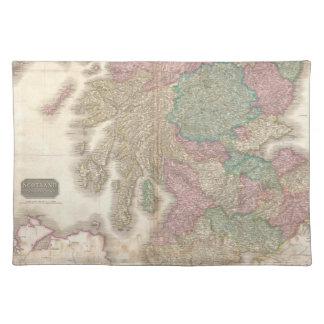 Mapa del vintage de Escocia meridional (1818) Manteles