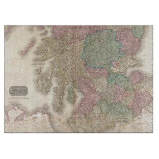 Mapa del vintage de Escocia meridional (1818) Tabla Para Cortar