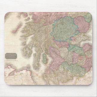 Mapa del vintage de Escocia meridional (1818) Alfombrilla De Ratones