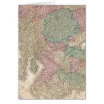 Mapa del vintage de Escocia meridional (1818) Tarjeton