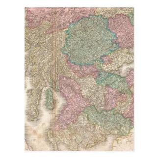 Mapa del vintage de Escocia meridional (1818) Postal