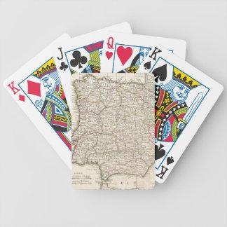 Mapa del vintage de España (1775) Baraja Cartas De Poker