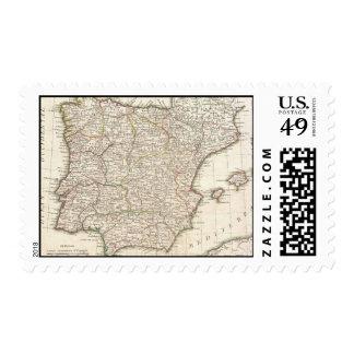 Mapa del vintage de España (1775) Franqueo