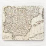 Mapa del vintage de España (1775) Tapetes De Raton