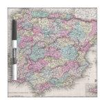 Mapa del vintage de España (1855) Pizarras