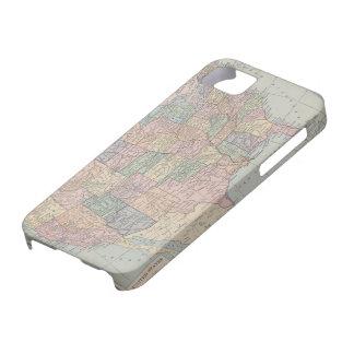 Mapa del vintage de Estados Unidos iPhone 5 Case-Mate Cárcasas