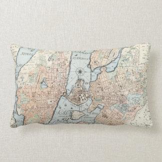 Mapa del vintage de Estocolmo 1733 Almohadas