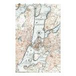 Mapa del vintage de Estocolmo (1733) Papeleria De Diseño