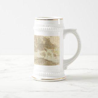 Mapa del vintage de Estocolmo 1899 Tazas De Café