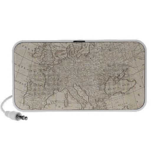 Mapa del vintage de Europa (1800) Altavoz De Viaje