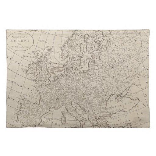 Mapa del vintage de Europa (1800) Manteles