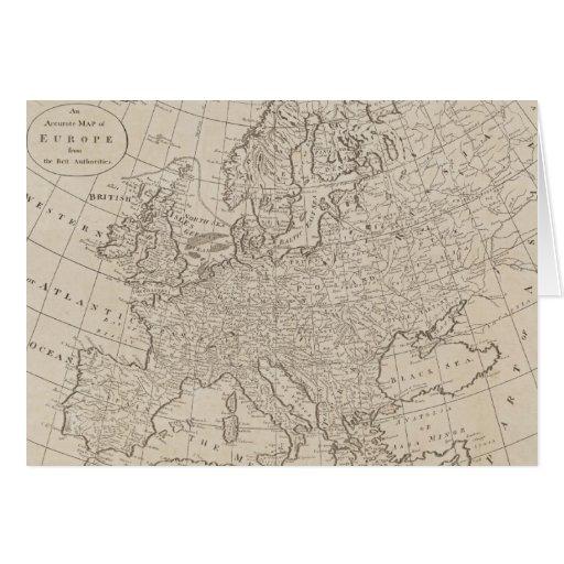Mapa del vintage de Europa (1800) Tarjeta