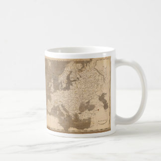 Mapa del vintage de Europa 1804 Taza De Café