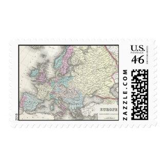 Mapa del vintage de Europa 1855