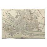 Mapa del vintage de Florencia Italia (1835) Mantel
