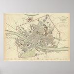 Mapa del vintage de Florencia Italia (1835) Impresiones