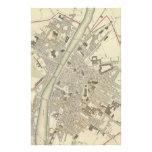 Mapa del vintage de Florencia Italia (1835) Papelería Personalizada
