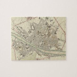 Mapa del vintage de Florencia Italia (1835) Rompecabezas Con Fotos