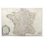 Mapa del vintage de Francia (1771) Manteles Individuales