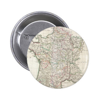 Mapa del vintage de Francia (1771) Pin Redondo De 2 Pulgadas