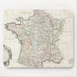 Mapa del vintage de Francia (1771) Tapete De Ratones