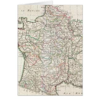 Mapa del vintage de Francia (1771) Tarjeta De Felicitación