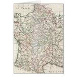Mapa del vintage de Francia (1771) Tarjeton