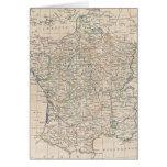 Mapa del vintage de Francia (1799) Tarjeton