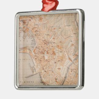 Mapa del vintage de Génova Italia (1906) Adornos