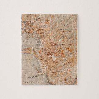 Mapa del vintage de Génova Italia (1906) Puzzles Con Fotos