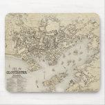 Mapa del vintage de Gloucester Massachusetts (1873 Alfombrilla De Raton