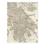 Mapa del vintage de Grecia (1794) Postal