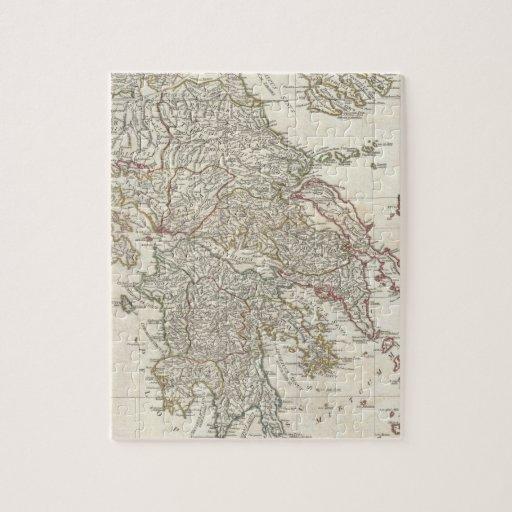 Mapa del vintage de Grecia (1794) Rompecabeza Con Fotos