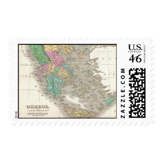 Mapa del vintage de Grecia 1827