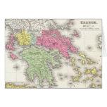 Mapa del vintage de Grecia (1853) Felicitación