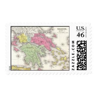 Mapa del vintage de Grecia 1853