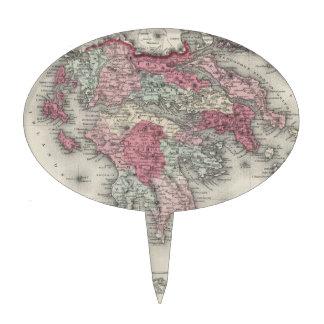 Mapa del vintage de Grecia 1865 Figuras Para Tartas