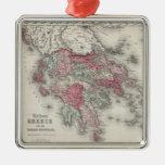 Mapa del vintage de Grecia (1865) Ornamento De Reyes Magos