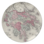 Mapa del vintage de Grecia (1865) Plato