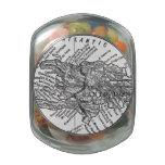 Mapa del vintage de Haití (1911) Jarras De Cristal