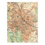 Mapa del vintage de Hannover Alemania (1895) Postales